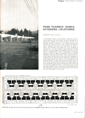 gregory ain altadena - park planned homes - progressive architecture 5