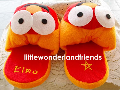 elmo sesame street plush bedroom slippers shoes big