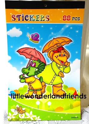 littlewonderlandfriends barney baby bop bj stickers sticker book