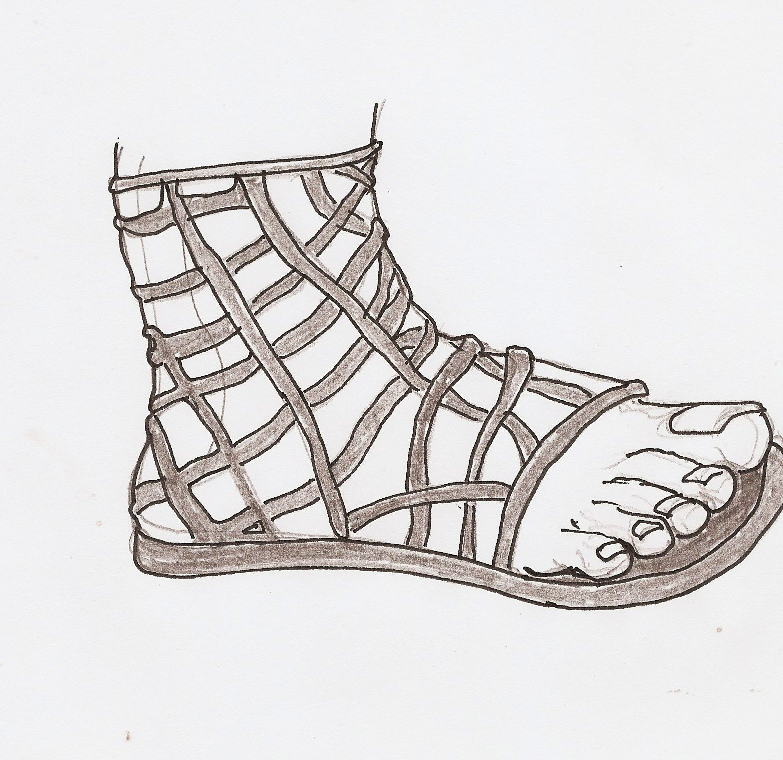 History of Sandals: Shoe styles of Ancient Greece: Assorted