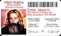 Jesus H Christ driver's license