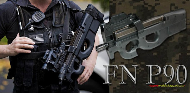 Military And Defense Modern Firearm Fn P90 Submachine