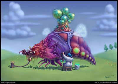 Источающий нектар - COW#124 - Иллюстрация - Юрий (t_rAt) Волкович