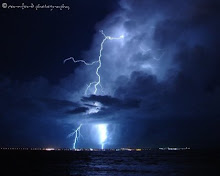 Lightning on Sandgate beach