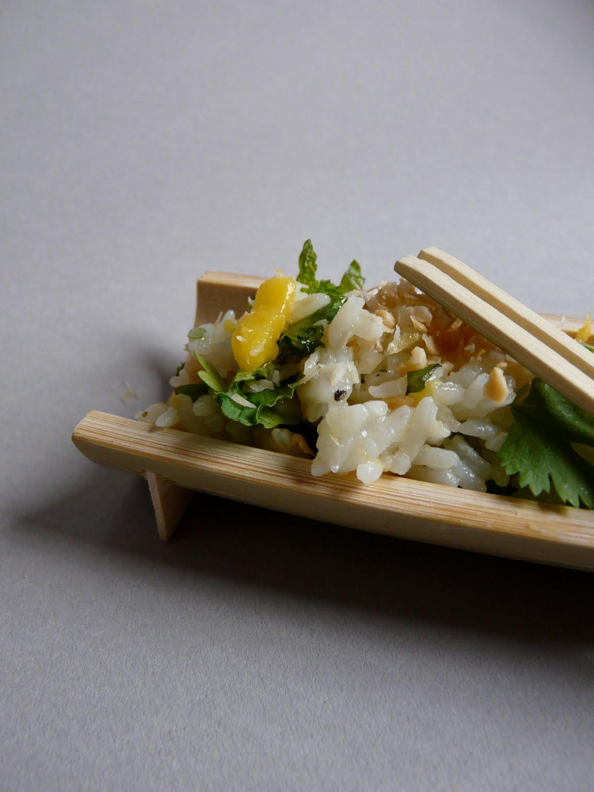 On dine chez nanou salade de riz tr s fra che la mangue coriandre menthe pour les - Recette fraiche pour l ete ...