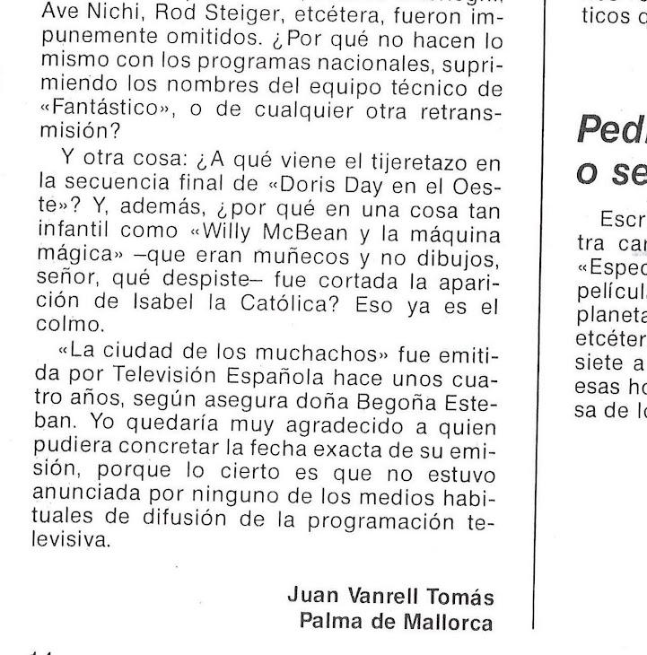 ¿LA CIUDAD DE LOS MUCHACHOS, EMITIDA POR TVE EN 1975?