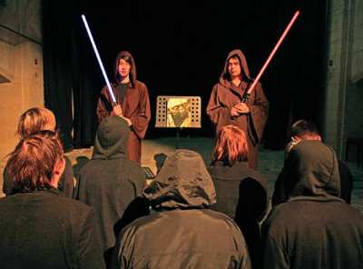 Barney, 26 - or Master Jonba Hehol - and Daniel, 21 - Master Morda Hehol - head the UK Church of the Jedi, in honour of the film's good knights.