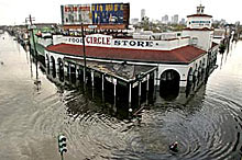 Bourbon Street after Katrina