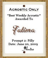 My 1st Award for Acrostic
