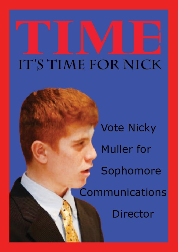 Nicky's Design Work: Sophomore Student Council Run: Time ...