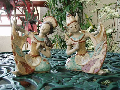 Balinese Dancers ceramic of Clay Handicraft