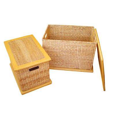Water hyacinth handicrafts Basket Model 4, Antique Baskets, Natural handicraft, Basket