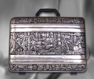 Work bag of antique silver