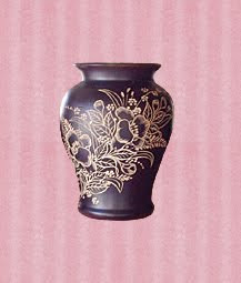 Antique  Wood Vase Handicraft, wood handicraft