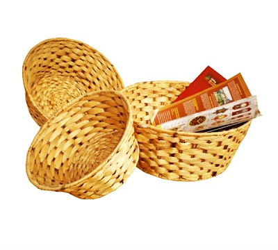 Antique baskets from water hyacinth fibers, basket, antique basket, handicraft, organic handicraft