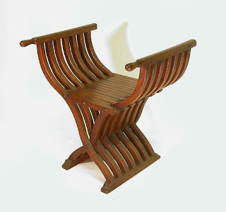antique wood roman folding chair, Antique Chair, wood handicraft, Handicraft Design