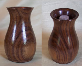Handcrafted Walnut Fresh Flower Vase, wood handicraft, Handcraft, Antique Flower Vase, Vase