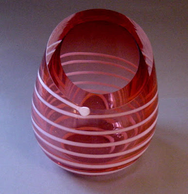 Unique oval glass vase, Unique, Modern Vase, Vase, Handicraft Design, Glass Handicraft
