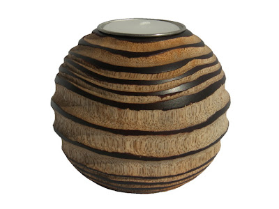Wood Candle Holder Handicraft