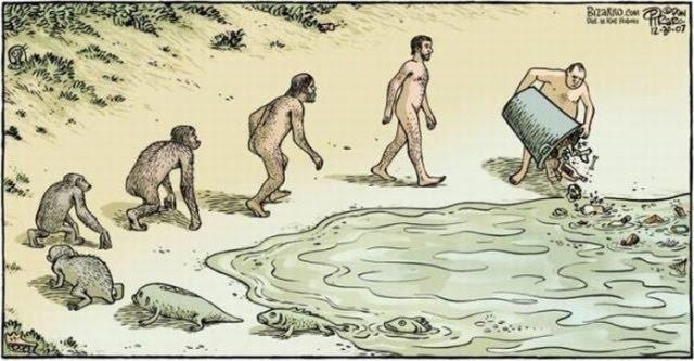 """Dan Piraro, """"evolución del hombre"""""""
