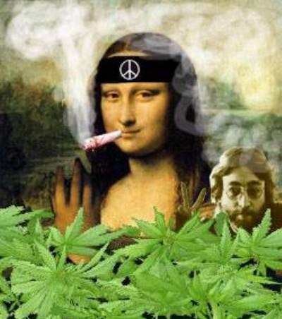 Fuma marihuana hippie...