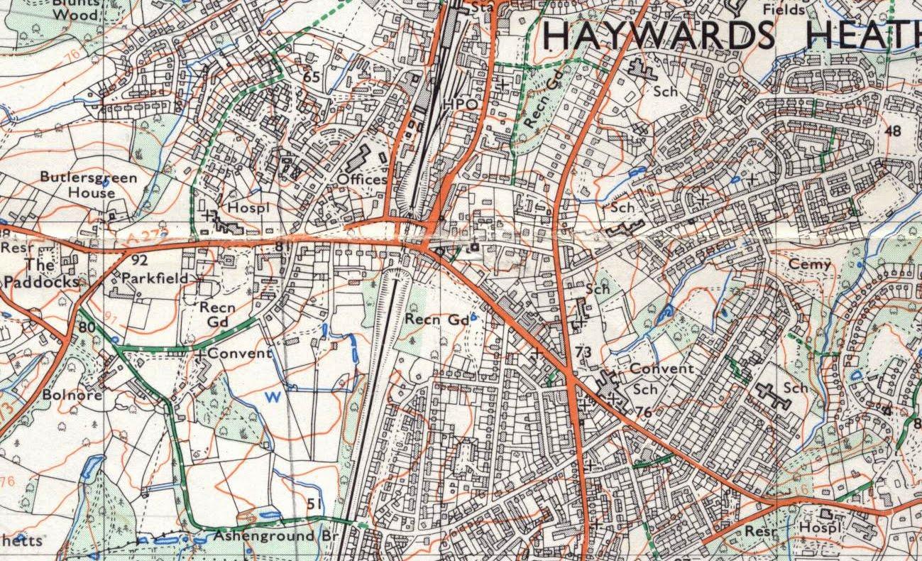 Image Gallery Haywards Heath Map