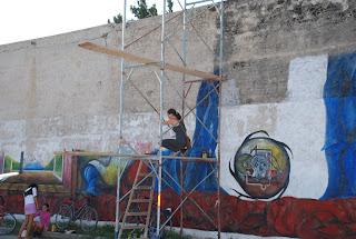 """dulceimaginarte""    el mural mas largo de la Arge"