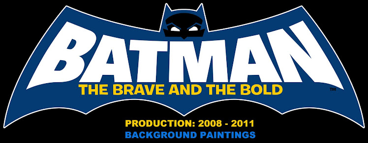 """Batman: The Brave and the Bold"" Background Paint Blog"