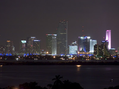 wallpaper beach night. Miami Beach - Night Cityscape