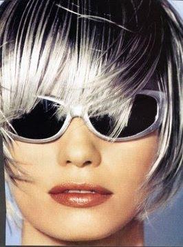 Gray Hair with Lowlights