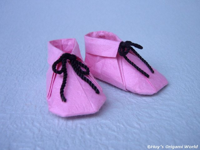 Cute Origami Baby Shoes Tutorial