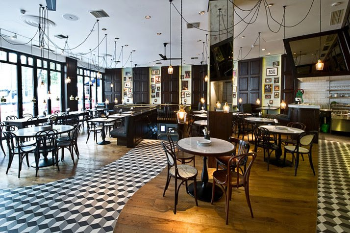 A212 cafe dishoom bombay cafe london for Interior design south london