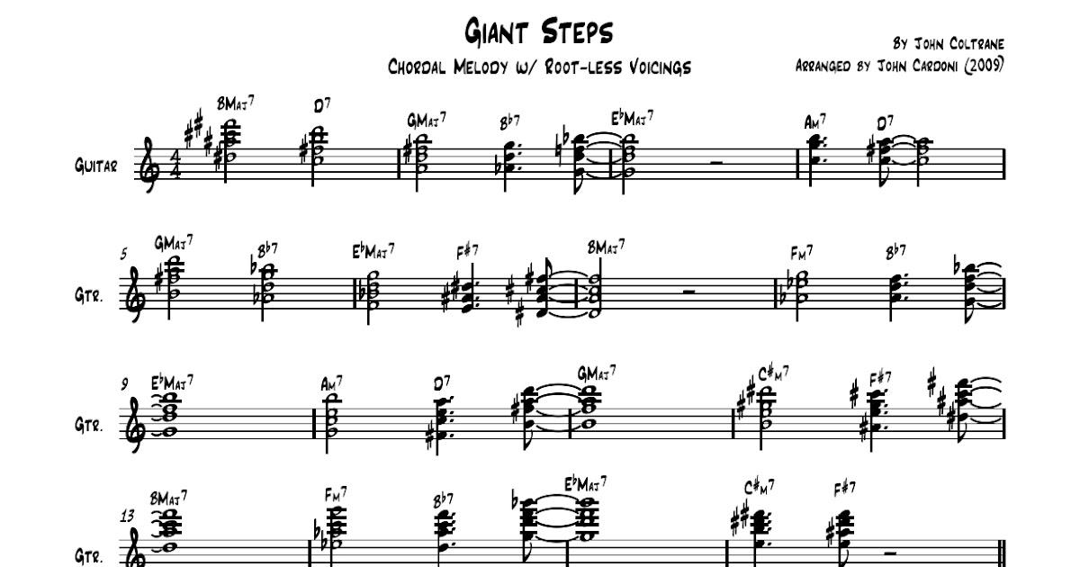 The Stringslinger Giant Steps Chord Melody