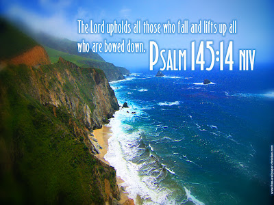 Psalm 145 14 Bible Verse Desktop Wallpapers