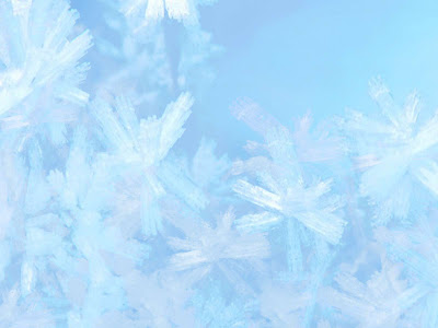 Snow Crystal PowerPoint Background