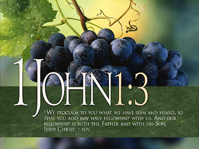 1 John 1:3 NIV Wallpaper