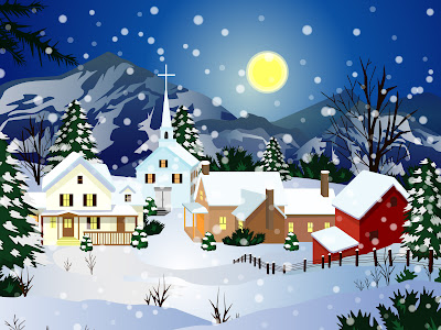 christmas snow wallpaper. Christmas Snow Town
