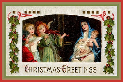 Baby Jesus Vintage Christmas Card
