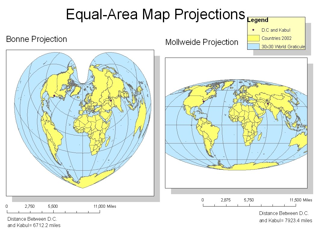 types of map projections