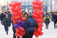 Valentine's Day Heart Shaped Balloons
