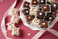 Valentine party chocolate favors