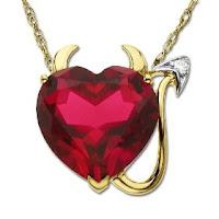 valentine heart shape pendant