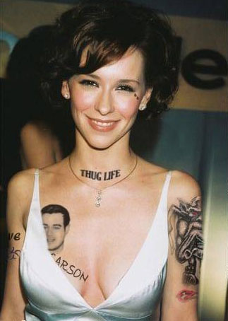 Female celebrity tattoo