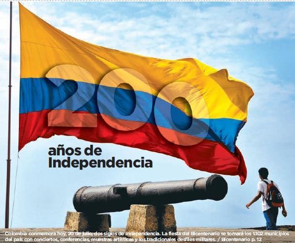 El blog de padrinosasturianos colombia celebra hoy 200 for Jardines 20 de julio bogota