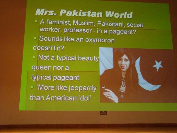 Tahmena Bokhari is Mrs. Pakistan World 2010