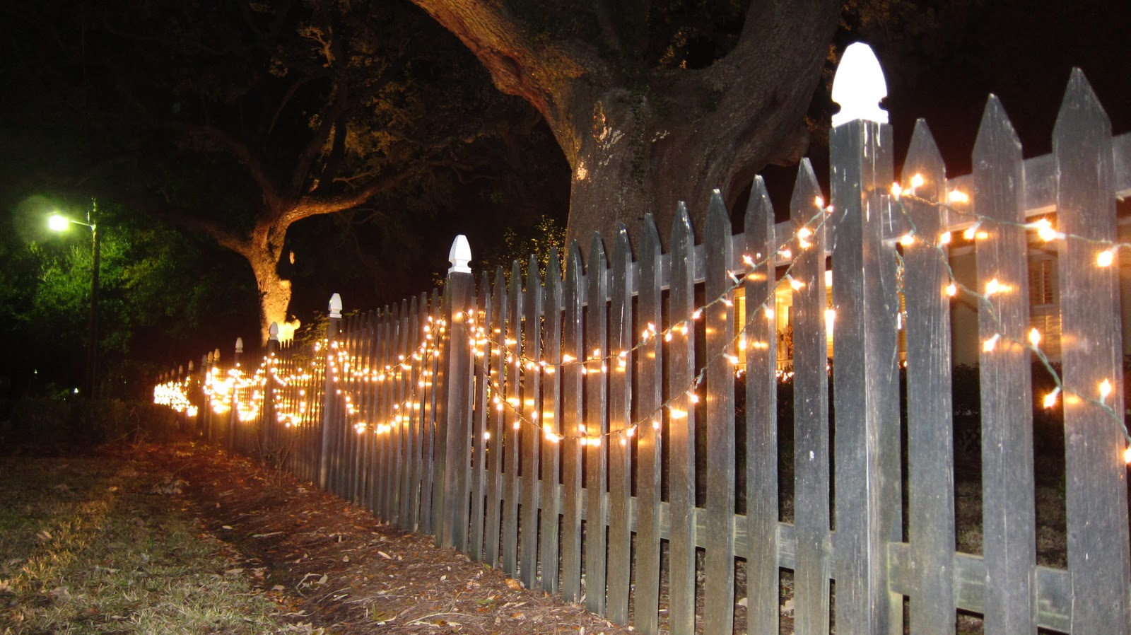 old village fence lights
