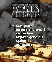 Jogo para Celular Tank Assault  128x160