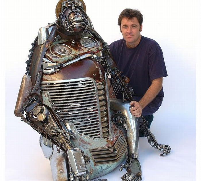 Sculptures From Old Car Parts