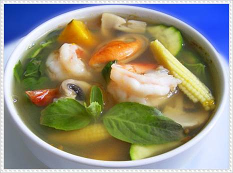 Thai food: Spicy mixed vegetable soup