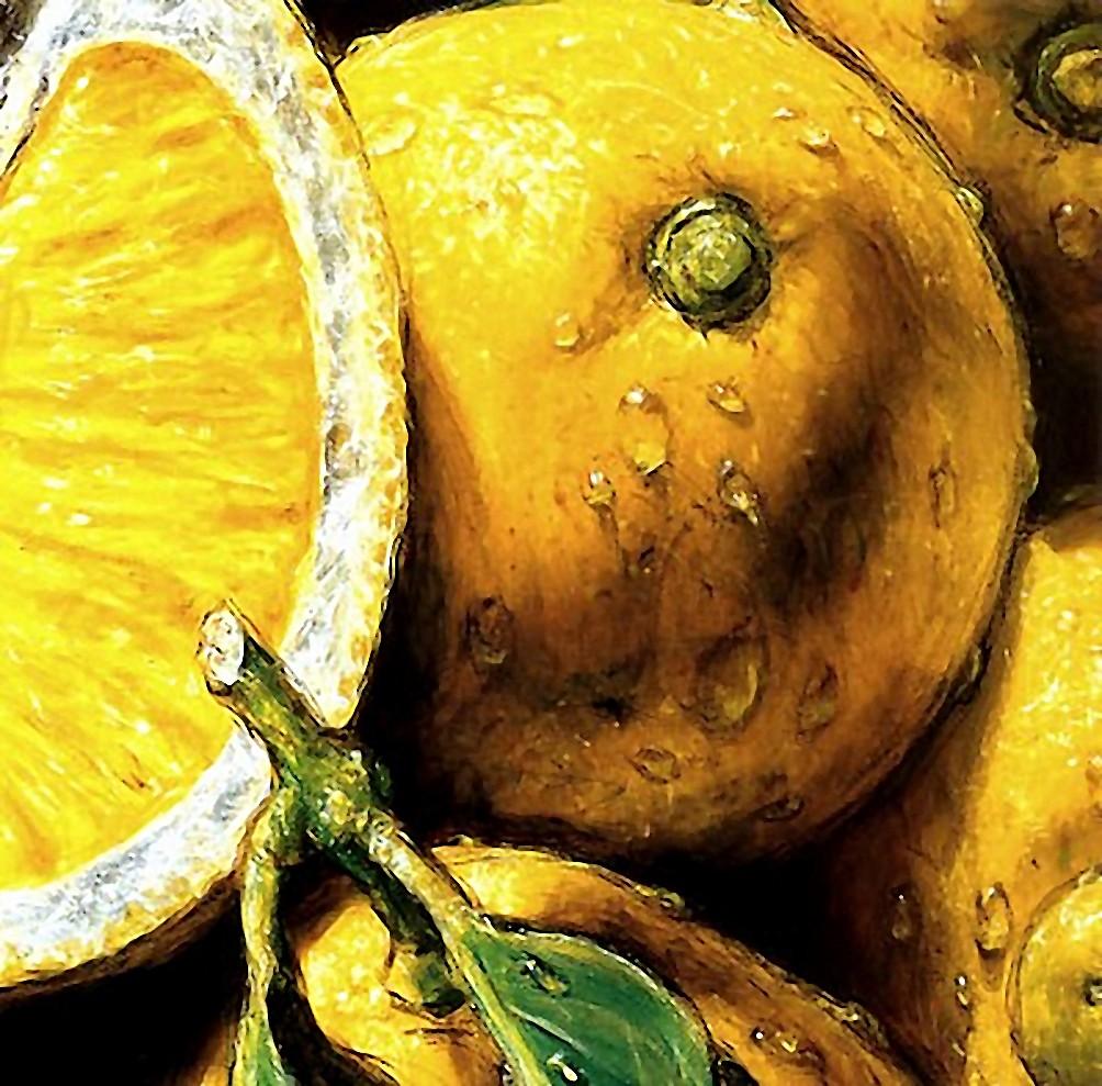 """Схема вышивки  """"Подушка  """"Лимоны."""